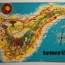 Postales: TENERIFE CANARIAS MAPA -SIN CIRCULAR - MIRA OTRAS SIMILARES EN VENTA. Lote 35708794