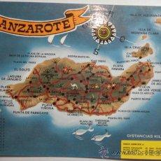 Postales: LANZAROTE CANARIAS MAPA -SIN CIRCULAR - MIRA OTRAS SIMILARES EN VENTA. Lote 35708798