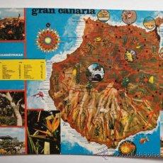 Postales: GRAN CANARIA CANARIAS MAPA -SIN CIRCULAR - MIRA OTRAS SIMILARES EN VENTA. Lote 35708812