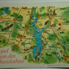 Postales: RUND SCHWIELOCHSEE ALEMANIA MAPA -SIN CIRCULAR - MIRA OTRAS SIMILARES EN VENTA. Lote 35708845