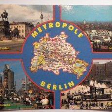Postales: BERLIN ALEMANIA MAPA -SIN CIRCULAR - MIRA OTRAS SIMILARES EN VENTA. Lote 35708872