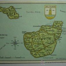 Postales: HOOGE PELLWORN ALEMANIA MAPA - CIRCULADA - MIRA OTRAS SIMILARES EN VENTA. Lote 35709024