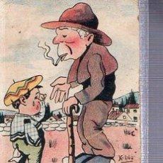 Postales: TARJETA POSTAL HUMORÍSTICA, HUMOR, ANCIANO ACONSEJA A NIÑO. Lote 36604441