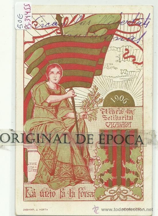(PS-34455)POSTAL DE LA SOLIDARITAT CATALANA- MAIG 1906 (Postales - Postales Temáticas - Especiales)