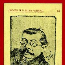Postales: TARJETA POSTAL, ASOCIACION PRENSA VALENCIANA, BAILE MASCARAS, 1905, ARAGO , ORIGINAL , A34. Lote 37462599