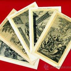 Postales: LOTE 5 POSTALES , DON QUIJOTE DE LA MANCHA , ANTIGUAS, REVERSO SIN PARTIR, A. Lote 37817647