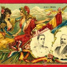 Postales: POSTAL ILUSTRADA ENCUENTRO ESPAÑA FRANCIA REYES ALFONSO XIII MAYO 1905 MONARQUIA ORIGINAL , P78438. Lote 38023407
