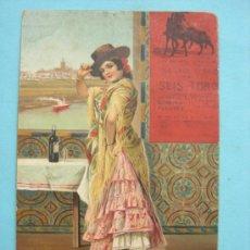 Postales: SEVILLA. TIPOS ANDALUCES. UNA FLAMENCA. STENGEL & CO. DRESDEN. Lote 38093283