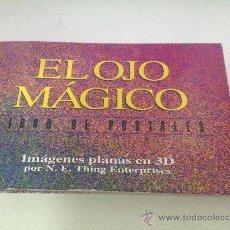 Postales: EL OJO MAGICO - LIBRO 25 POSTALES - IMAGENES PLANAS EN 3D. Lote 179079098