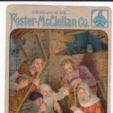 Postales: TARJETA PROPAGANDA FOSTER MCCLELLAN PILDORAS DE FOSTER PARA RIÑONES Y VEJIGA - CONSERVADA. Lote 38598668
