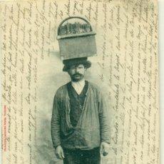 Postales: TIPOS DE LA CALLE. ESPAÑOL VENDEDOR DE CUAJADA. TOULOUSE. ARAGÓN. CIRCULADA EN 1903. MUY RARA.. Lote 38603560