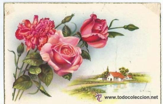** PH699 - PRECIOSA POSTAL - RAMO DE FLORES - ESCRITA 1958 (Postales - Postales Temáticas - Especiales)