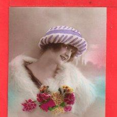 Postales: - 7725 BONITO POSTAL DE BELLA DAMA ESCRITA AÑO 1921 VER BIEN LA FOTOS. Lote 38718971