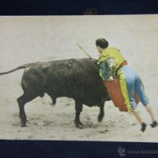 Postales: POSTAL COLOREADA PPIOS S XX LA ESTOCADA SERIE T Nº 9 SIN CIRCULAR CORRIDA TAUROMAQUIA. Lote 39403554