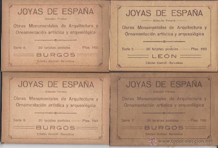 Postales: COLECCIÓN JOYAS DE ESPAÑA. 45 SERIES. FALTAN 17 POSTALES. PRIMER TERCIO S. XX - Foto 2 - 39717964