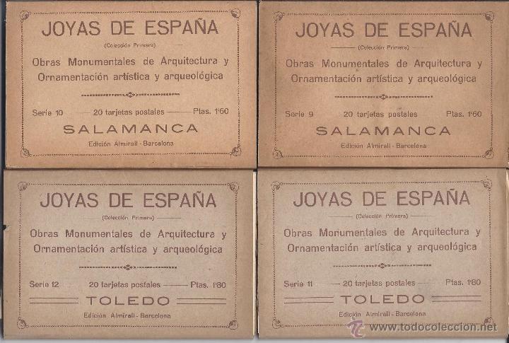 Postales: COLECCIÓN JOYAS DE ESPAÑA. 45 SERIES. FALTAN 17 POSTALES. PRIMER TERCIO S. XX - Foto 3 - 39717964