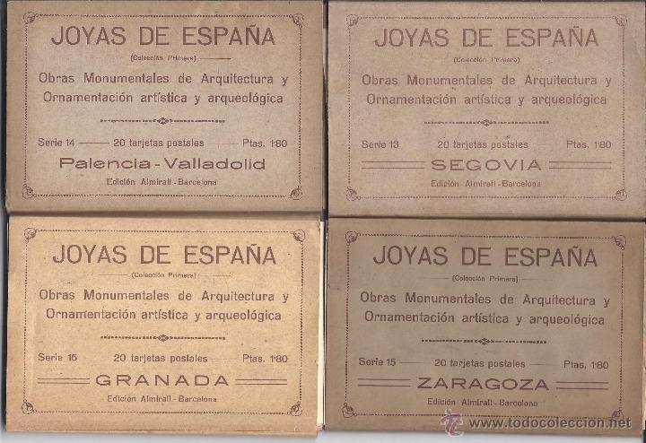 Postales: COLECCIÓN JOYAS DE ESPAÑA. 45 SERIES. FALTAN 17 POSTALES. PRIMER TERCIO S. XX - Foto 4 - 39717964