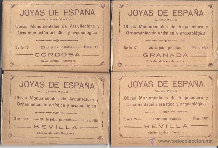 Postales: COLECCIÓN JOYAS DE ESPAÑA. 45 SERIES. FALTAN 17 POSTALES. PRIMER TERCIO S. XX - Foto 5 - 39717964