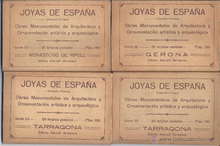 Postales: COLECCIÓN JOYAS DE ESPAÑA. 45 SERIES. FALTAN 17 POSTALES. PRIMER TERCIO S. XX - Foto 6 - 39717964