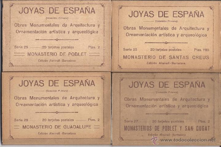 Postales: COLECCIÓN JOYAS DE ESPAÑA. 45 SERIES. FALTAN 17 POSTALES. PRIMER TERCIO S. XX - Foto 7 - 39717964