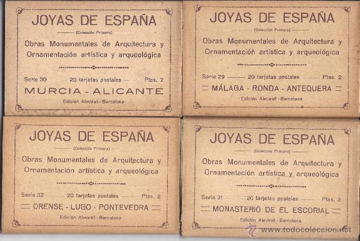 Postales: COLECCIÓN JOYAS DE ESPAÑA. 45 SERIES. FALTAN 17 POSTALES. PRIMER TERCIO S. XX - Foto 8 - 39717964