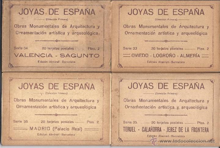 Postales: COLECCIÓN JOYAS DE ESPAÑA. 45 SERIES. FALTAN 17 POSTALES. PRIMER TERCIO S. XX - Foto 9 - 39717964