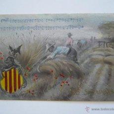 Postales: POSTAL CATALANISTA. CANT .ELS SEGADORS. CIRCULADA.. Lote 39920259