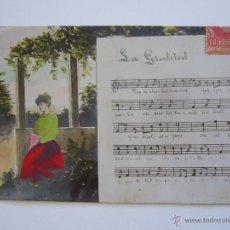 Postales: POSTAL CATALANISTA. CANÇO LA GRATITUT. CIRCULADA 1908.. Lote 39920827