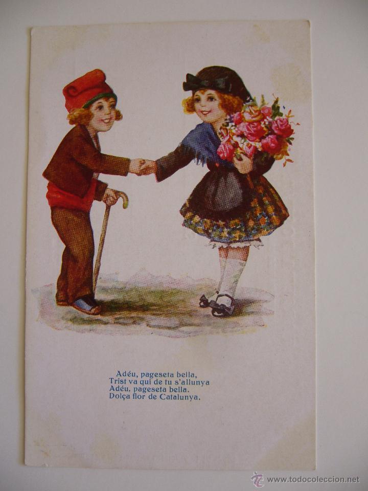POSTAL CATALANISTA.PARELLA CATALANA.ADÉU, PAGESETA...J.IBAÑEZ.CIRCULADA 1926.ED.VICTORIA.N.1236. (Postales - Postales Temáticas - Especiales)