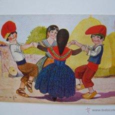 Postales: POSTAL CATALANISTA.SARDANES. CERVELLO. CIRCULADA. ED. VICTORIA.N.1292.. Lote 39936735