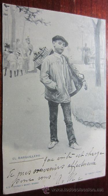 POSTAL EL BARQUILLERO REVERSO SIN DIVIDIR HAUSER Y MENET (Postales - Postales Temáticas - Especiales)