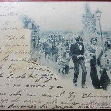 Postales: POSTAL AL SANTO REVERSO SIN DIVIDIR HAUSER Y MENET. Lote 40340864