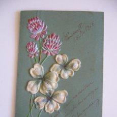Postales: POSTAL TROQUELADA. FLORES. CIRCULADA 1906. . Lote 40342408