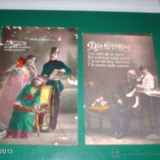 Postales: DOS POSTALES AÑOS 10 DEL SIGLO XX. CONSEJOS Y CANCIÓN DEL SOLDADO. Lote 40352814