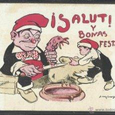 Postales: SALUT Y BONAS FESTAS - CODORNIU - REVERSO SIN DIVIDIR (20414). Lote 42333822
