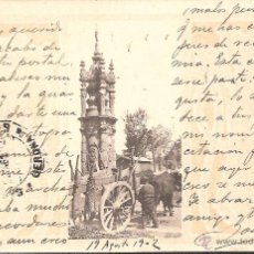 Postales: POSTAL DE UN CARRO -EDICION HAUSER Y MENET CIRCULADA DE SEVILLA A SAN FELIU DE GUIXOLS EN 1902. Lote 42457792