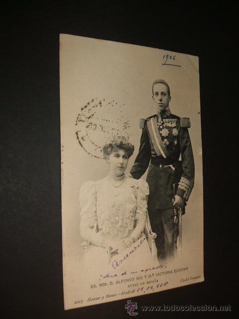 SS. MM. D. ALFONSO XIII Y Dª VICTORIA EUGENIA REYES DE ESPAÑA HAUSER Y MENET (Postales - Postales Temáticas - Especiales)