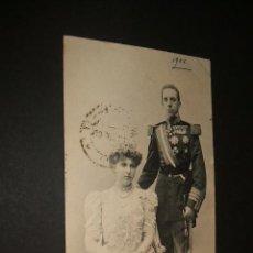 Postales: SS. MM. D. ALFONSO XIII Y Dª VICTORIA EUGENIA REYES DE ESPAÑA HAUSER Y MENET. Lote 42512223