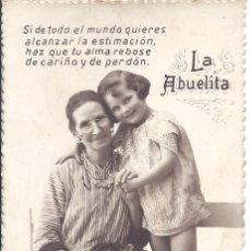 Postales: PS4361 POSTAL FOTOGRÁFICA DEDICADA A LA ABUELITA. ESCRITA AL DORSO EN 1936. Lote 42757122