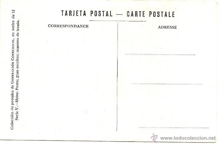 Postales: SERIE V COMPLETA DE POSTALES DE GENERACIÓN CONSCIENTE - MUY RARAS - SIN CIRCULAR - AÑOS 20-30 - Foto 8 - 43062981
