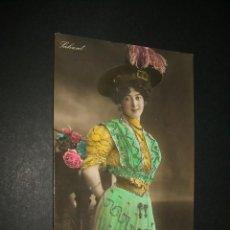 Postales: SAHARET POSTAL ARTISTA HACIA 1910 CON BRILLANTINA. Lote 43275271