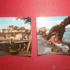 Postales: 2 FOTO POSTALES - CUADRADAS AÑOS 50 - TUY Y LA ESCALA -. Lote 43300355