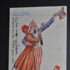 Postales: ANTIGUA POSTAL FRANCESA PRINCIPIOS DE SIGLO XX. VIVE LE FRANCE, FRANCE FOR EVER. ILUS. XAVIER SAGER. Lote 43781549