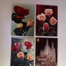 Postales: POSTALES GRANDES DE ROSAS. Lote 44076991