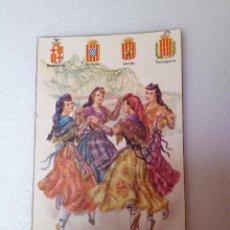 Postales: POSTAL DE LAS 4 REGIONES CATALANAS. Lote 44161233