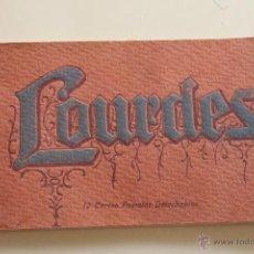 Postales: BLOC 12 POSTALES ANTIGUAS DE LOURDES, EDITADAS EN PARIS. Lote 44264379