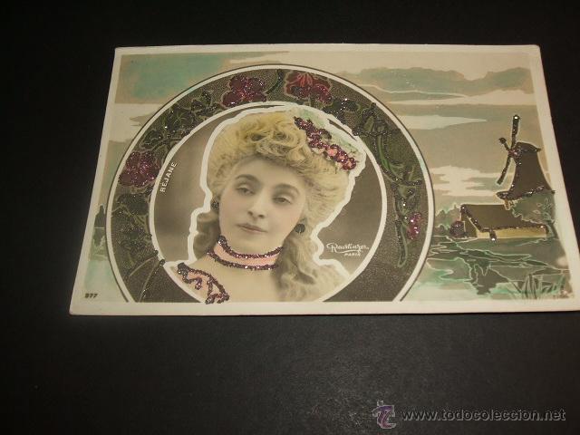 REJANE POSTAL ARTISTA HACIA 1905 (Postales - Postales Temáticas - Especiales)