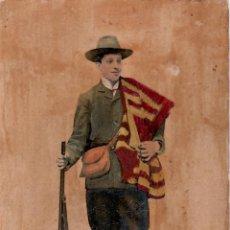 Postales: POSTAL COLOREADA A MANO Y BARNIZADA DE S.M. EL REY ALFONSO XIII - HAUSER Y MENET - 1020. Lote 45000666