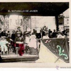 Postales: 1908 - LA FAMILIA REAL DURANTE EL DESFILE ESCOLAR EN LA PLAZA DEL 2 DE MAYO - ALFONSO XIII. Lote 45283547