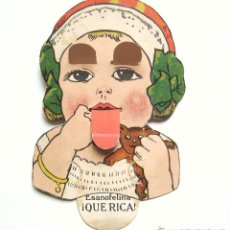 Postales: POSTAL MOVIBLE PUBLICIDAD TONICO FERRO QUINA BISLERI ESANOFELINA. FARMACIA AÑOS 30. Lote 45428268